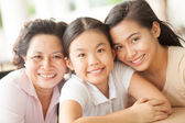 Happy family generation — Stock Photo