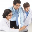 Clinicians at work — Stock Photo
