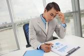 Absorbido en el trabajo — Foto de Stock