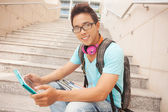 Student before lessons — Stock Photo