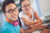 Teenagers at home — Stock Photo