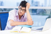 Tired at lesson — Stock Photo