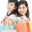 Shopping sisters — Stock Photo