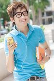 Teenager on the street — Stock Photo
