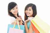 Shopping with friend — Stock Photo