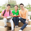 Students at break — Stock Photo