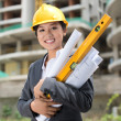 Cheerful engineer — Stock Photo