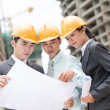 Industrial trio - Stock Photo