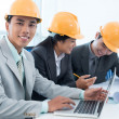Engineers at workplace — Stock Photo
