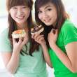 Royalty-Free Stock Photo: Girls with pastries