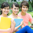 Students outdoors — Stock Photo #13902520