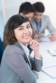 Female employee — Stock Photo