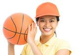 Basketball smile — Stock Photo