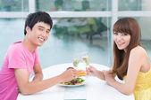 Randki w restauracji — Zdjęcie stockowe