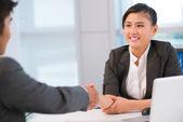 Firm handshake — Stock Photo