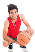 Positive basketball player — Stock Photo
