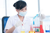 Chemical student — Stock Photo