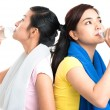 Thirsty girls — Stock Photo