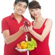Propaganda of healthy eating — Stock Photo
