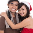 Stock Photo: Merry couple