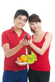 Propaganda van gezond eten — Stockfoto