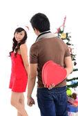 Kerst liefde — Stockfoto