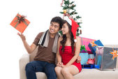 Christmas entertainment — Stock Photo