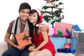 Första jul tillsammans — Stockfoto