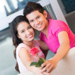 Red rose love — Stockfoto