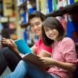 Studying students — Stockfoto