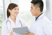 Positive doctors — Stock Photo
