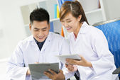 Working doctors — Foto Stock