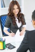 Charming employer — Stock Photo