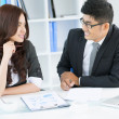 Interview with a new specialist — Stock Photo