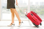 Carrying baggage — Stockfoto