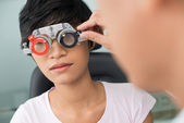 Visiting optician — Stock Photo
