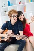 Happy teens — Stockfoto