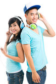 Musical couple — Stock Photo