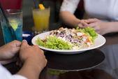 Restaurant dish — Stock Photo