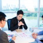 Meeting of three — Stock Photo