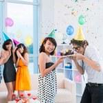 Happy birthday to friends! — Stock Photo