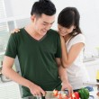 Kitchen date — Foto de Stock