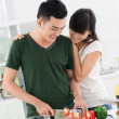Kitchen date — Stock Photo