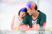 Cafe couple — Stock Photo