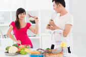 Kitchen wars — Stock Photo