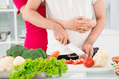 Kitchen romance — Stock Photo