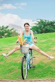 Funny rider — Stock Photo