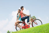 Ciclistas románticos — Foto de Stock
