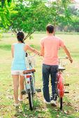 Romantic riders — Stock Photo