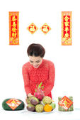 Preparing dishes for Tet — Stock Photo